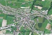 Luftbild der Gemeinde Ruswil. (Karte mapsearch.ch)