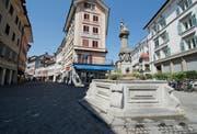 Die Pfistergasse in der Luzerner Kleinstadt. (Bild: Dominik Wunderli)