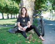 Jasmin Stadler geniesst ihre Ferien, bevor sie ihr Studium in Oxford fortsetzt. (Bild: Maria Schmid (Zug, 16. August 2017))