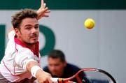 Stan Wawrinka während seinem starken Aufspiel am Viertelfinal am French Open. (Bild: EPA / Ian Langsdon)
