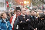 Galt als SVP-Hoffnungsträger für die Romandie: Bundesrat Guy Parmelin. (Bild: Jean-Christophe Bott/Keystone (Nyon, 17. Dezember 2015))