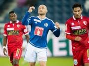 Marco Schneuwly brachte mit dem Ausgleich zum 1:1 den FC Luzern zurück ins Spiel (Bild: KEYSTONE/URS FLUEELER)