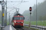 Der Bahnhof Grafenort. (Bild: Markus von Rotz / Neue NZ)