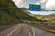 Die Ausfahrt Hergiswil, Fahrtrichtung Nord, muss während vier tagen gesperrt werden. (Bild: Google Streetview)