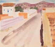 Louis Moilliet (1880–1962) «Strasse in Sitges III», 1930 Aquarell, 18.5 x 21.8 cm. Kunstmuseum Luzern, Schenkung Monika Widmer. (Bild: Kunstmuseum Luzern)
