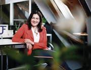 Judith Fischer in ihrem Büro in Inwil bei Baar. (Bild: Stefan Kaiser (27. Februar 2018))