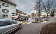 Wie im Gebiet Münsterplatz übersteigt der Verkehrslärm in Sursee auf diversen Abschnitten den Grenzwert. (Bild: Pius Amrein (Sursee, 14. März 2018))