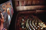 Eine der Produktionen des Century Symphony Orchestra: «West Side Story» im KKL. (Bild: Nadia Schärli (Luzern, 23. Januar 2015))