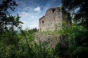 Die Burgruine Nünegg oberhalb von Lieli bekommt eine Aussichtsplattform. (Bild: Pius Amrein / Neue LZ)