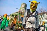 Ach du Shrek! Die Lozärner Chaote machen Horw unsicher. (Bild: Philipp Schmidli)