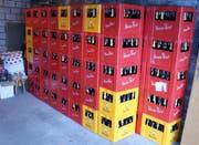 Die freigegebenen Bierharrasse. (Bild pd)