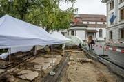 Die Ausgrabungen finden beim Franziskanerplatz statt. (Bild: Philipp Schmidli (Luzern, 11. August))
