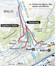 Suonen Karte (Bild: SBB)