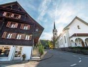 Im Horwer Dorfkern Ost, zu dem auch der Kirchweg gehört, sollen Neubauten möglich sein. Diese sollen sich laut FDP und L20 aber an den bestehenden Bauten orientieren. (Bild: Eveline Beerkircher (10. Oktober 2017))