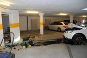 Die Unfallstelle in Oberarth. (Bild Kantonspolizei Schwyz)