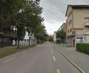 Industriestrasse in Zug, vorne die Bleichistrasse. (Bild: Google Street View)