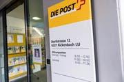 Der Post Rickenbach droht die Schliessung. Die Bevölkerung will die Poststelle unbedingt behalten. (Bild Roger Grütter)