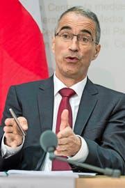 Serge Gaillard, Direktor der Eidgenössischen Finanzverwaltung. (Bild: Keystone/Peter Schneider)
