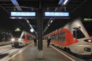 Bahnhofperron in Einsiedeln. (Bild: Archiv SOB)