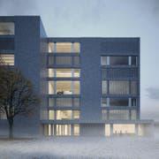 Aussenansicht des geplanten Neubaus der Hochschule Luzern - Musik. (Bild: Enzmann Fischer & Büro Konstrukt AG)