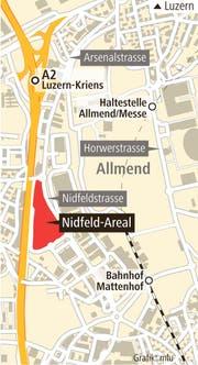 Das Nidfeld-Areal in Kriens.