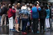 Chinesische Touristen in Luzern. (Bild Corinne Glanzmann)