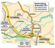 Verkehrszählung ab November 2011. (Bild: Neue LZ)