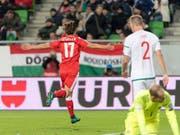 Valentin Stocker schiesst die Schweiz zum Sieg. (Bild: KEYSTONE/Georgios Kefalas)