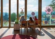 Der Kindergarten des Schulhauses Felsberg in Luzern. (Bild: Dominik Wunderli (Luzern, 19. April 2016))
