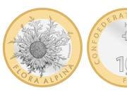 Die Silberdistel wird in diesem Jahr mit einer Sondermünze geehrt. (Bild: Quelle: Swissmintshop.ch)