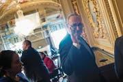 Oppositionschef Chuck Schumer erklärte gestern in Washington die Kompromissbereitschaft seiner Demokraten. (Bild: Brendan Smialowski/AFP)