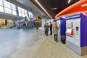 Seit Februar 2016 stehen schon die neuen Automaten im Untergeschoss des Luzerner Bahnhofs bereit. Nun werden vis-a-vis neue Geschäfte eröffnet. (Bild: PD/SBB)