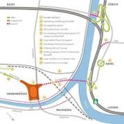 Verkehrsführung während der Sperrung der Reusseggstrasse (Bild: pd)