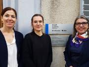 Die Leiterin Anlaufstelle Alter in der Stadt Luzern, Evelyne Schrag (rechts), mit ihren Mitarbeiterinnen Karin Kunz (links) und Tina Sidler. (Bild: PD)