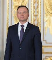 Polens Staatspräsident Andrzej Duda im Warschauer Königsschloss. (Bild: Mateusz Wlodarczyk (3. Mai 2017))
