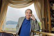 Pavel Kohout (86): Der tschechische Autor liest heute Abend im Literaturhaus Zentralschweiz in Stans aus seinen Memoiren. (Bild: Dominik Wunderli / Neue LZ)