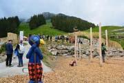 Eröffnungstag von Globis Alpenspielplatz (Bild: PD)