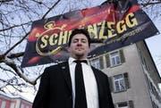 Guggenmusig und Festwirt: Adrian Rogger hat an der Fasi viel zu tun. (Bild: Werner Schelbert)
