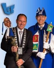 Marcel Manetsch, LFK-Präsident mit Weibel Alberto Margraf. (Bild: Heinz Steimann)