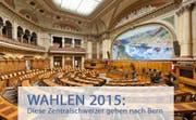 20 Zentralschweizer gehen neu oder wieder nach Bern. (Bild: Keystone)