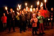 Sie wollen keine Einschränkungen beim Auenschutz. Demo am 15. Dezember 2014 in Giswil. (Bild: Romano Cuonz)