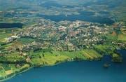 ...und 1993 hat sich die Siedlungsfläche stark vergrössert. (Bild ETH-Bibliothek Zürich, Hans Krebs/Somorjai Zsolt)
