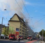 15 Personen mussten evakuiert werden. (Bild: Luzerner Polizei (Luzern, 24. Oktober 2017))