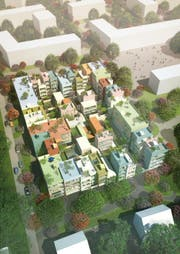 So könnte der farbenfrohe Bau in Emmen künftig aussehen. (Bild: Visualisierung PD)