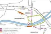 So sieht die neue Verkehrsführung für den motorisierten Individualverkehr aus. (Bild: pd)