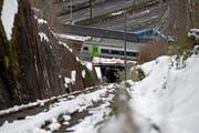 Die Bauarbeiten der Gütsch-Bahn haben am 2. Februar begonnen. (Bild: Pius Amrein / Neue LZ)