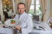 Thunfisch-Sashimi, angerichtet von Hugues Blanchard, Küchenchef des Restaurants Olivo im Casino Luzern. (Bild: Boris Bürgisser / Neue LZ)