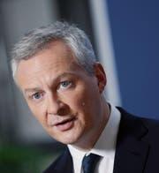 Der französische Finanz- und Wirtschaftsminister Bruno Le Maire. (Bild: François Mori/AP (Paris, 12. Januar 2018))