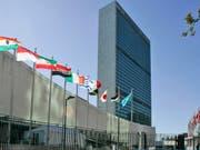 UNO-Hauptquartier in New York - Bundespräsidentin Doris Leuthard und Aussenminister Didier Burkhalter nehmen dort an der 72. UNO-Generalversammlung teil. (Bild: Keystone/AP/MARY ALTAFFER)