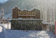 Die neue Tafel am Ortseingang von Engelberg. (Bild: PD)